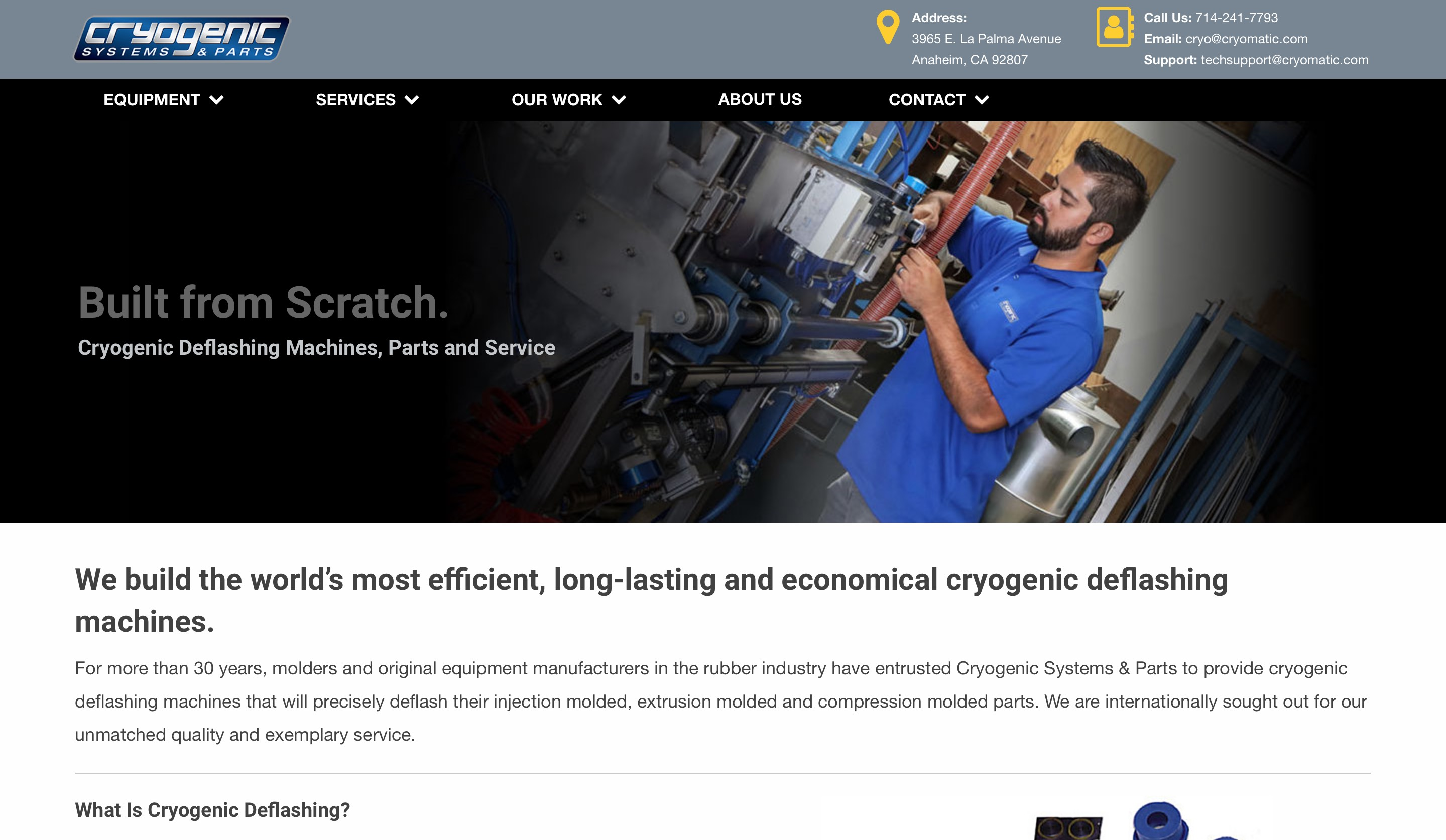 Cryogenic Systems home page screenshot