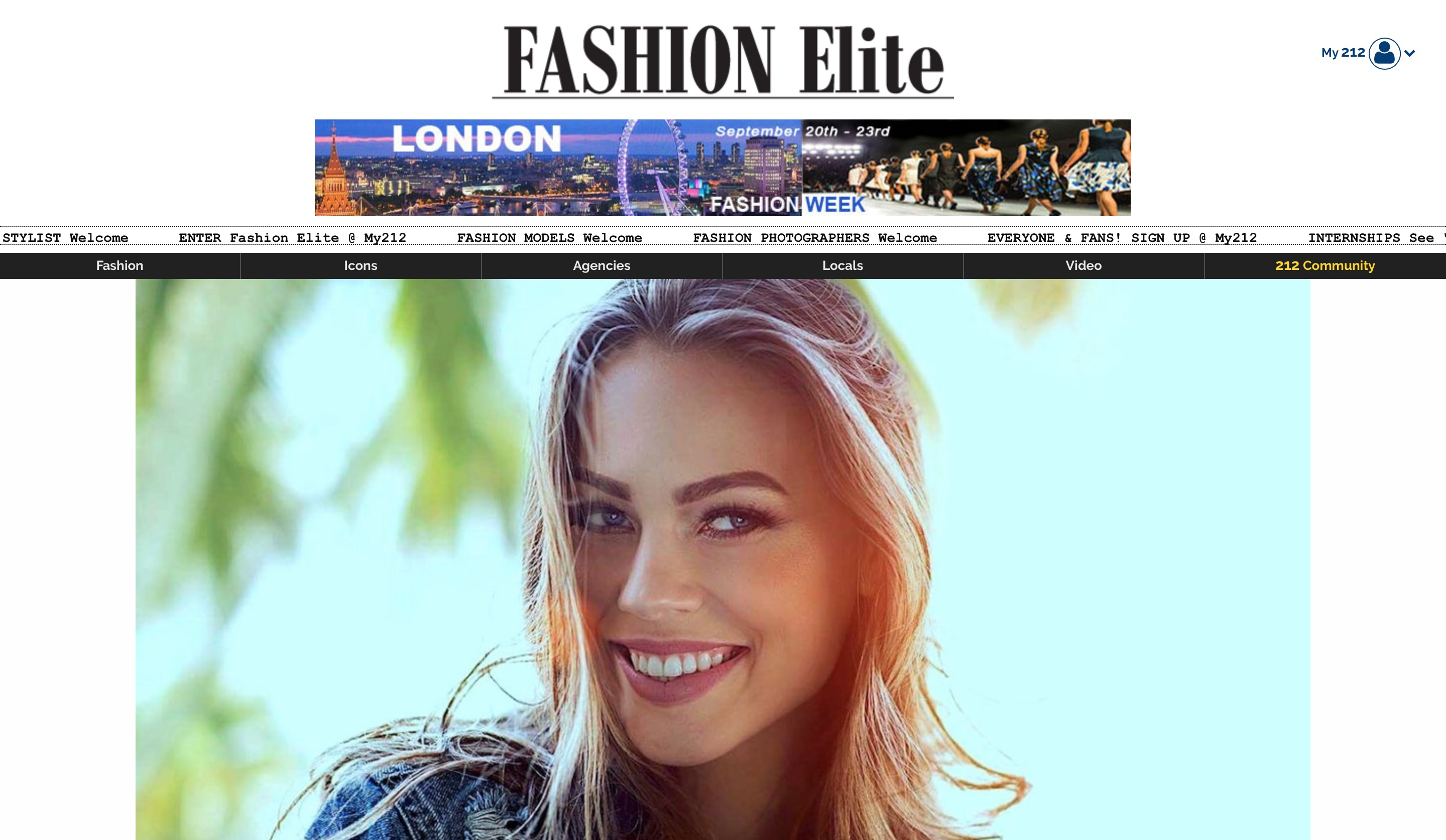 Fashion Elite home page screenshot