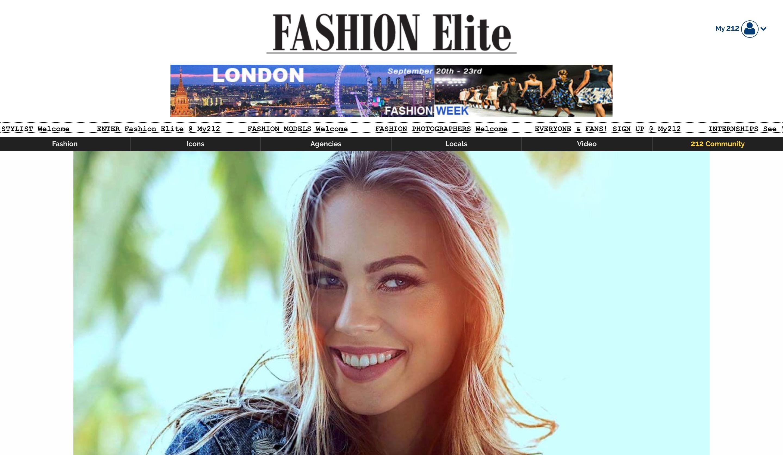 Fashion Elite home page screenshot