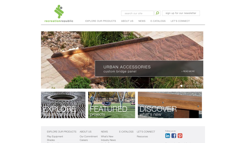 Recreation Republic website home page screenshot