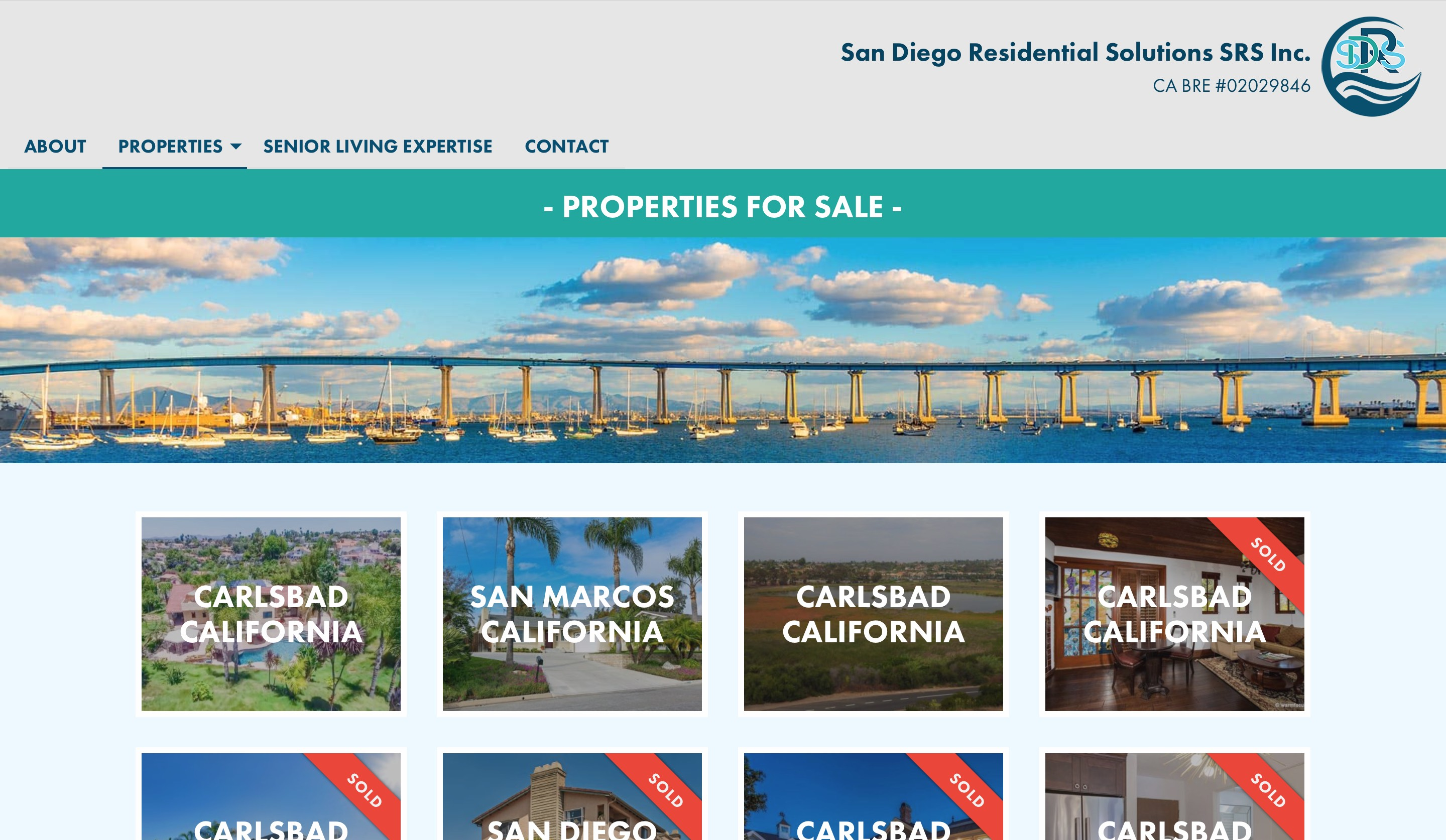 San Diego Residential Solutions property listing page screenshot