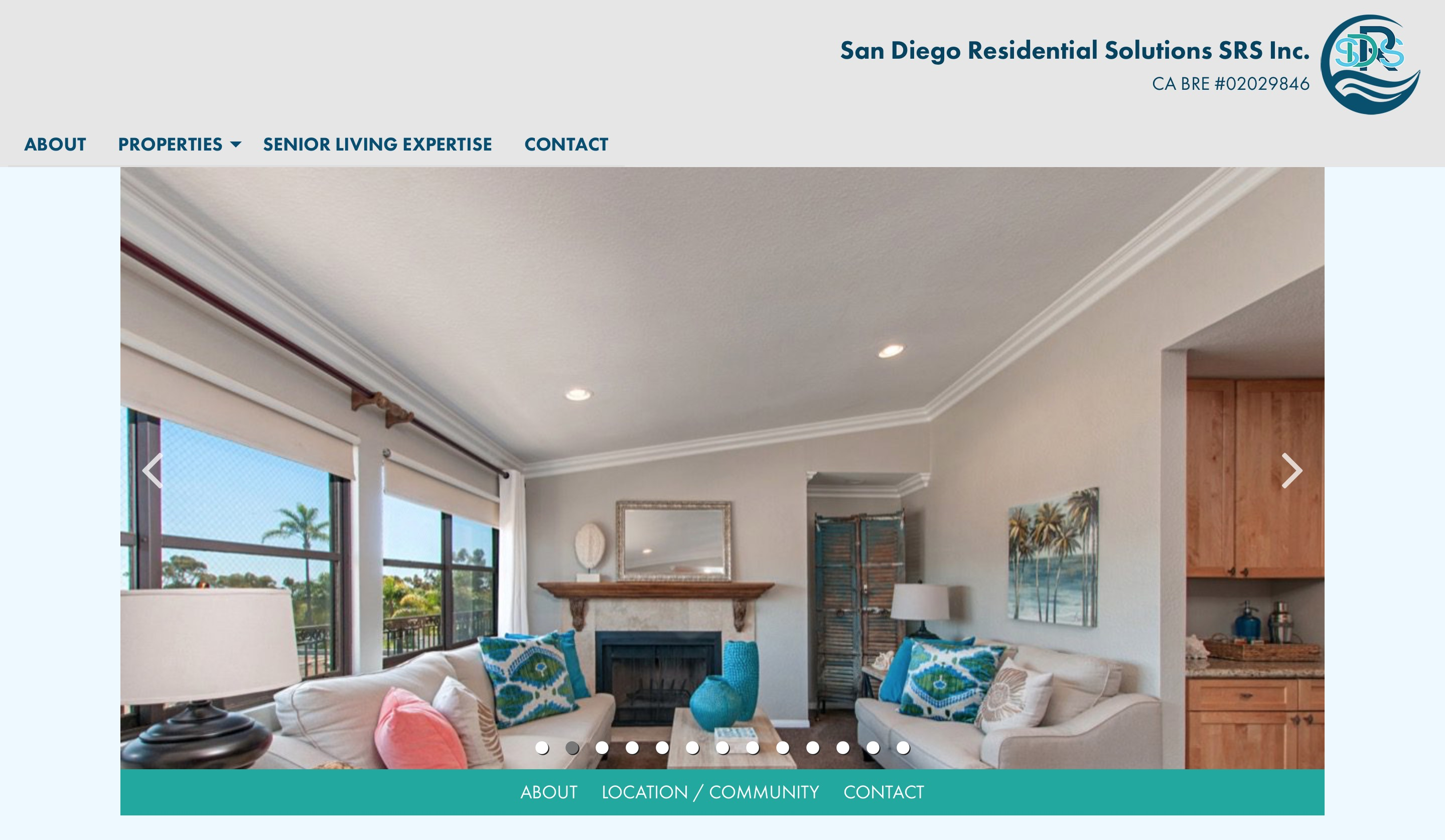 San Diego Residential Solutions property detail page screenshot