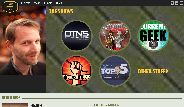 Tommerrit.com website homepage screenshot
